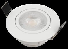 LED Lampe Einbauleuchte weiß rund Eco-54 3000K warmweiß 5W 400lm Downlight NEU