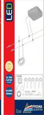 LED Seilsystem, chrom-titan, 5xLED-Platine/3,5W