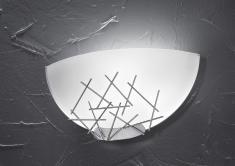 """Fabas Luce """"Stick"""" Wandleuchte Metall/Glas"""