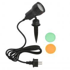 LED Außenleuchte, schwarz, 1xLED/GU10/3W