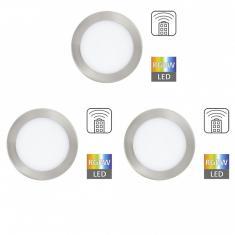 Eglo 78738 TINUS - RGB LED Einbauleuchten Set mit Fernbedienung