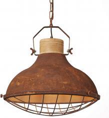 Brilliant Charo Pendelleuchte 48cm rost-braun/gewischt Industrial Look,