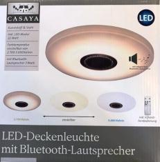 LED Deckenleuchte mit Bluetooth-Lautsprecher und Fernbedienung , versch. Lichtfarben umschaltbar