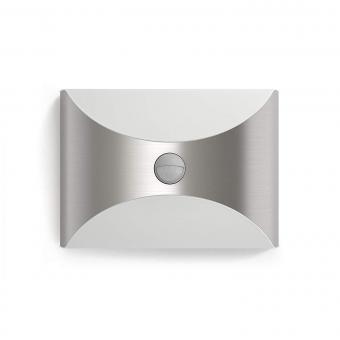 LED Sensor Außenwandleuchte 1x6W 600 lm warmweiß Herb edelstahl