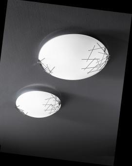 """Fabas Luce """"Stick"""" Deckenleuchte/Wandleuchte Metall/Glas"""