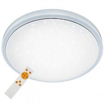 Briloner Leuchten LED Deckenleuchte, dimmbar, Farbton einstellbar: warm kalt weiß, Deckenlampe inkl. Nachtlicht-Funktion, Timerfunktion, Fernbedienung, Metall, Integriert, 24 W, D: 38.5 cm