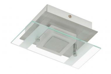 LED Wand-Deckenleuchte mit Glasplatte