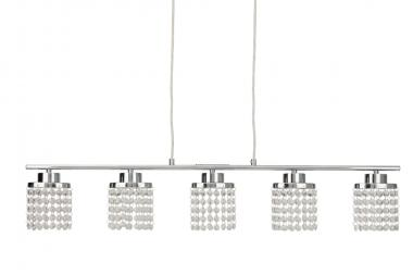 Briloner LED Pendelleuchte mit Kristallbehang 5x 5Watt