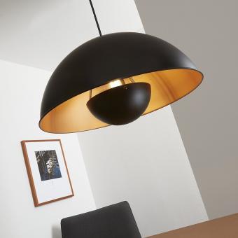 Pendelleuchte,schwarz-gold-matt,1xE27/60W exkl.