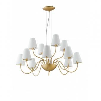 Luce Ambiente Design Kronleuchter-I-CANTO/12 Armig gold/weiß