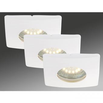 LED Einbauleuchten 3-er Set, weiss, 3 x 4 Watt IP44