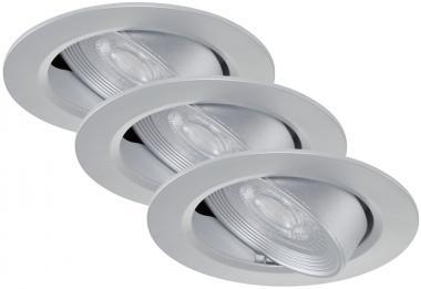 LED Einbauspot 3er Set Briloner 7278-034 Silber 3x 5 Watt schwenkbar