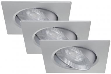 LED Einbauspot 3er Set Briloner 7279-034 Silber 3x 5 Watt schwenkbar