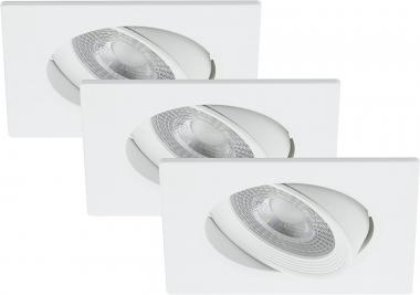 LED Einbauspot 3er Set Briloner 7279-036 Silber 3x 5 Watt schwenkbar