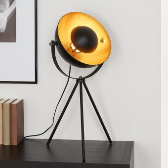 Briloner Leuchten  Studioleuchte, 4xE27, Max. 40W Vintage Schwarz-Gold-Matt