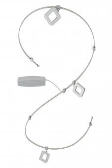LED-Schienensystem Quadro 3-flammig titan-weiß