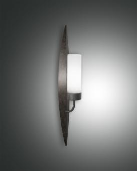 Wandleuchte Vanity, E14 1X60W, Metall und geblasenes Glas   rostfarbig