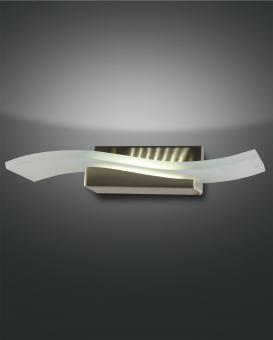 Wandleuchte Glove, LED 12W  , Metall und Glas, nickel satiniert