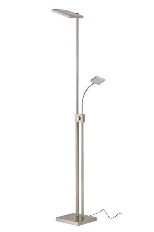 leuchten treff briloner 1255 022 led deckenfluter stehleuchte mit leseleuchte dimmbar und. Black Bedroom Furniture Sets. Home Design Ideas