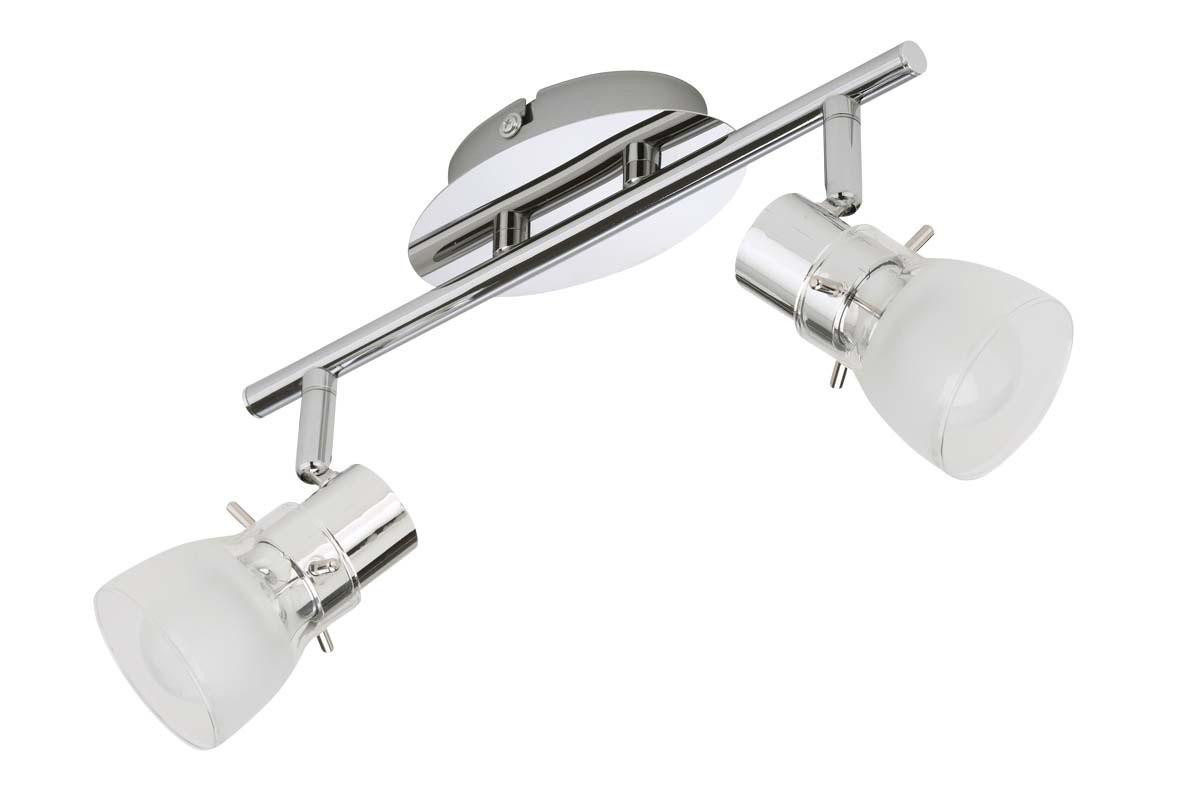 leuchten treff led schiene mattnickel glas weiss e14 5 watt online kaufen. Black Bedroom Furniture Sets. Home Design Ideas