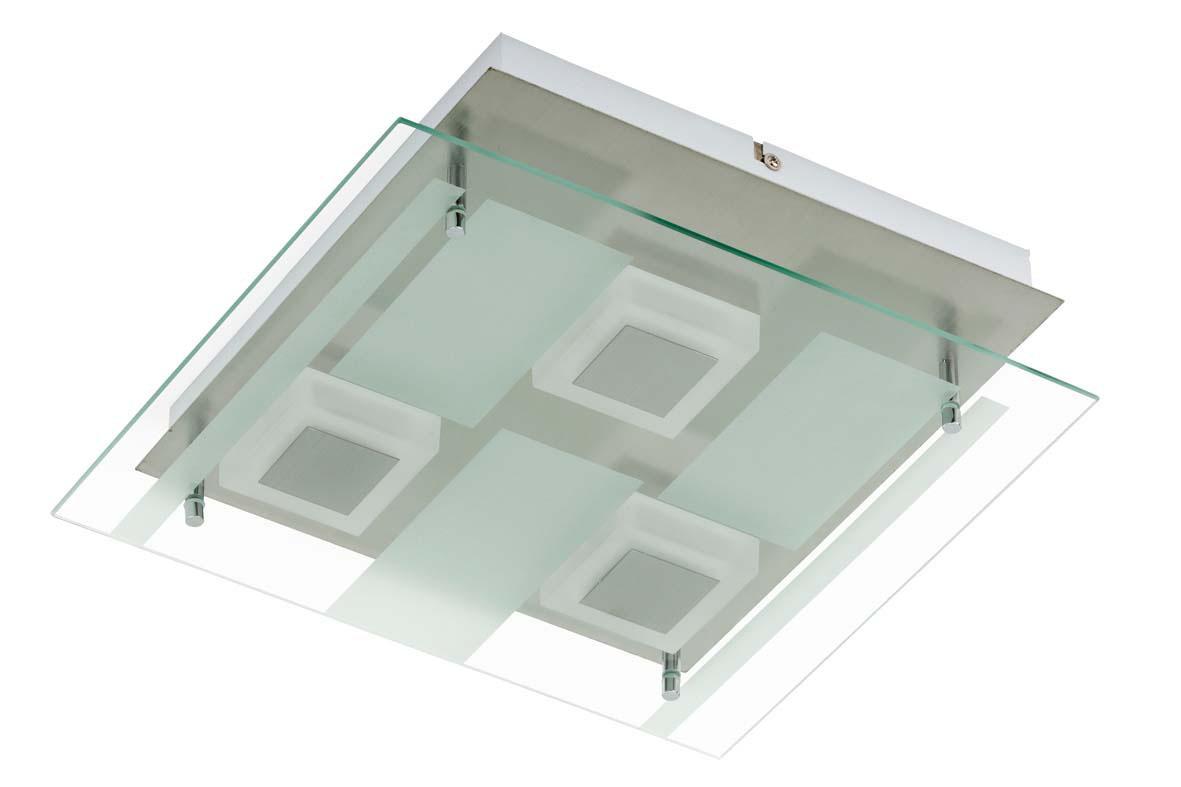 leuchten treff led wand deckenleuchte mit glasplatte. Black Bedroom Furniture Sets. Home Design Ideas